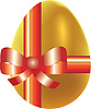 Vector clipart: Colored easter egg with bow