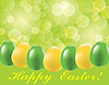 Vector clipart: Easter background with eggs and blurry light