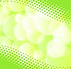 Vector clipart: Green spring background with blurry light