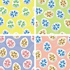 Vector clipart: Colorful seamless pattern with easter eggs , set