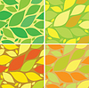 Vector clipart: seamless pattern with leaves, autumn and summer background