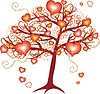 Love tree with red hearts for valentine day | Stock Vector Graphics
