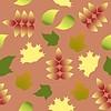 Patrón inconsútil con coloridas hojas de otoño | Ilustración vectorial