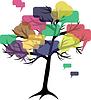 Forum oder Chat: im Baum des Sprechblasen-Konzept