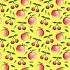 apple and cherry - seamless pattern and abstract natur