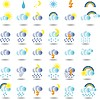 Vector clipart: weather colorful icon set for web design