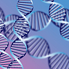 Vector clipart: DNA helix, biochemical abstract background