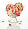 Ice cream with strawberry topping | Stock Foto