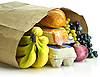 Paper bag with groceries | Stock Foto