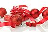 Christmas balls and gift | Stock Foto