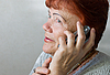 Photo 300 DPI: elderly woman with cellphone