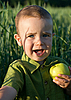 Little boy with apple | Stock Foto