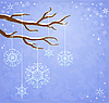 Winter background with snowflakes | Stock Vector Graphics
