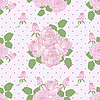 Vector clipart: Seamless romantic pattern with roses