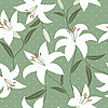 Vector clipart: Seamless pattern with lily flowers