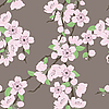 seamless pattern with sakura branch