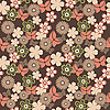 Vector clipart: beautiful floral seamless pattern