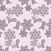 Vector clipart: Violet seamless pattern with flowers