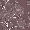 Векторный клипарт: цветочный бесшовные модели
