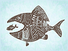 Vector clipart: patterned fishes