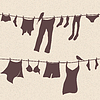 Vector clipart: clothes hanging out to dry