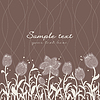 Vector clipart: floral invitation pattern