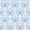 Vector clipart: seamless butterfly background