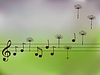 Musik Noten mit Löwenzahn