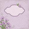 Векторный клипарт: цветочная рамка с фиолетовыми цветами