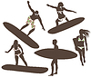 Surfers | Stock Vector Graphics