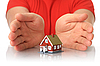 Photo 300 DPI: Hands and small house