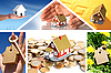 Investition in Immobilien. Business-Collage | Stock Photo