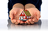 Hands and small house | Stock Foto