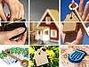 Invest in real estate. Business collage. | Stock Foto