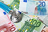 Stethoscope and euro money | Stock Foto