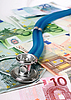 Photo 300 DPI: Stethoscope and euro money