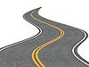 曲折的道路 | 光栅插图