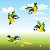 Vector clipart: sparrows
