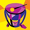 Векторный клипарт: барабан