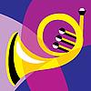 Векторный клипарт: музыкальный рожок