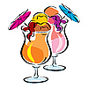 Vector clipart: ice cocktail