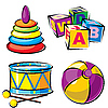 Vector clipart: children toys