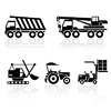 Vector clipart: special vehicles