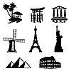 Vector clipart: travel icons