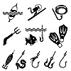 Vector clipart: fishing equipment