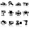 Tools icon set | Stock Vector Graphics