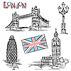 London góry | Stock Vector Graphics
