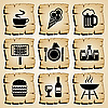 Vector clipart: icons food