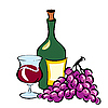 ID 3109097 | Wine and Grapes | Stock Vector Graphics | CLIPARTO