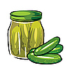 Canned pickles | Stock Vector Graphics